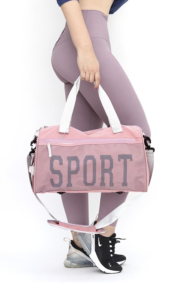 Maleta deportiva unisex , material lona reforzada 100% poliester , tamaño mediano , medidas 42cm * 24 cm * 20 cm